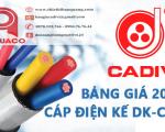 Bảng Giá Cáp Điện Kế CADIVI